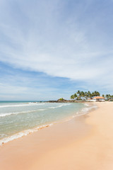 Sri Lanka - Ahungalla - Calming at the white sandy beach