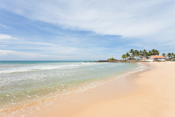 Sri Lanka - Ahungalla - Impressed by the idyllic beach landscape