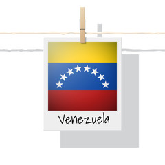 South America continent flag collection with photo of Venezuela flag , vector , illustration
