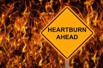 Heartburn Ahead Warning Sign