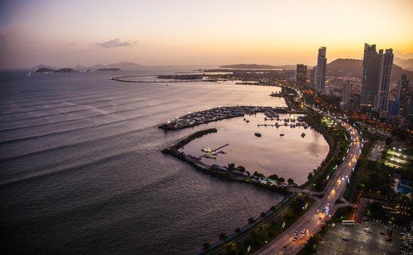 Skyline of panama City in Panama
