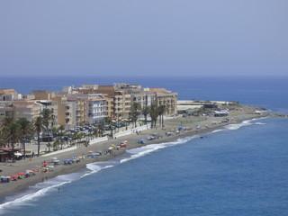 Playa de La Rábita, localidad costera de Granada, comunidad autónoma de Andalucía (España)