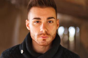 Portrait of attractive guy