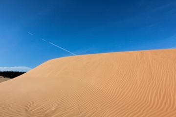 Beauty of Landscape desert, Red Sand Dune Mui Ne in Vietnam