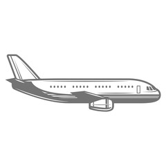 Airplane icon. Aircraft logo. vector illustration on white background.