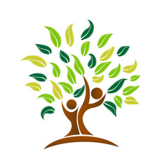 Environmental tree, cleaning the planet icon