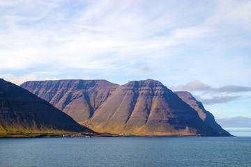 West Fjords and ocean coast near Ísafjörður in Iceland