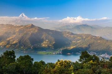 Tuinposter Nepal Pokhara, Nepal