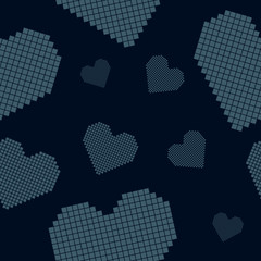 "Seamless pattern: hearts (similar to embroidery ""cross"")"