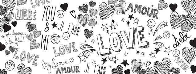 Love doodles background
