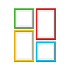 Colored photo frame set.