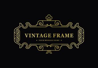 Retro vintage typographic design elements.