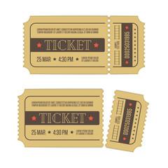 Vector cinema ticket.