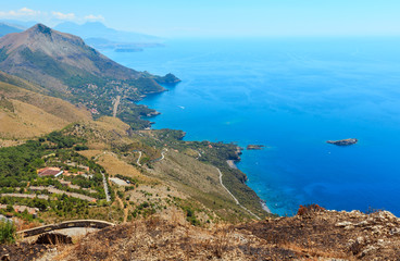 Poster Cote Tyrrhenian sea coast near Maratea, Italy