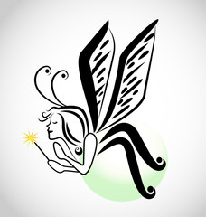 Fairy cartoon icon
