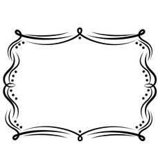 Frame vintage decor icon