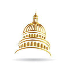 Capitol gold building icon