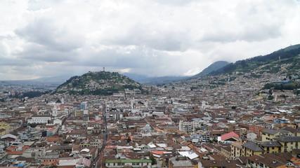 View Over The Historic Centre Of Quito, Ecuador
