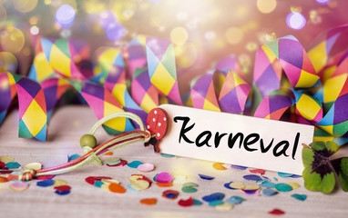 Karneval Party Luftschlangen Bokeh Hintergrund