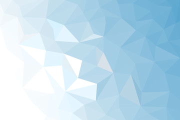 Blue White Light Polygonal Mosaic Background,