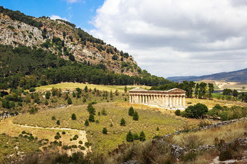 Greek Temple Ruins in Segesta Sicily
