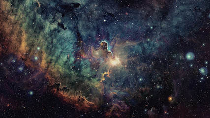 Deep space art. Galaxies and stars. Elements of this image furnished by NASA