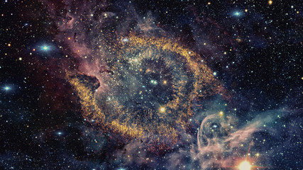 Helix Nebula in constellation Aquarius. Elements of this image furnished by NASA