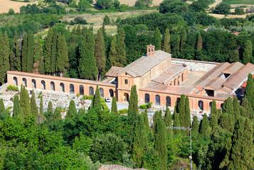 Montepulciano cemetery, Tuscany, Italy