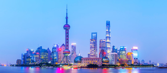 Wall Murals Shanghai Shanghai Bund night view
