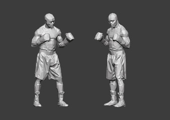 Boxer Low Poly