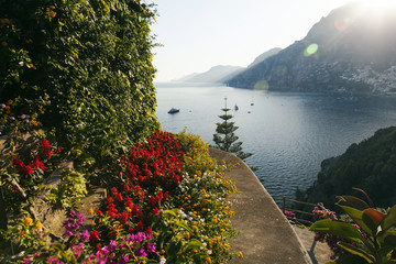 Amazing sea and garden in Ravello, italy