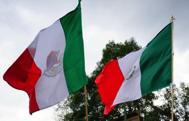 View of a Mexican flag