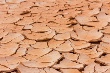 Dry and cracked earth perspective background