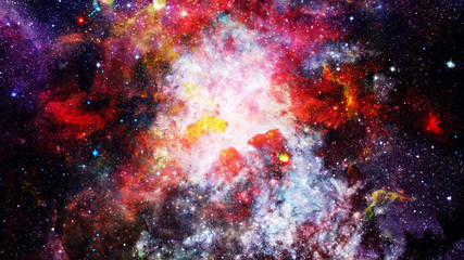 Nebula and galaxy. Majestic background. Elements of this image furnished by NASA