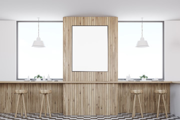 Wooden bar interior, poster