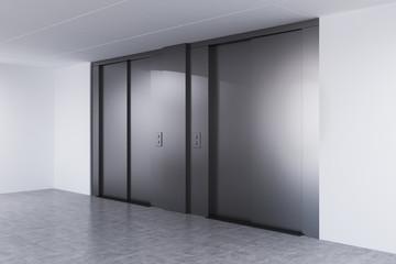 Empty elevator hall