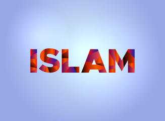 Islam Concept Colorful Word Art