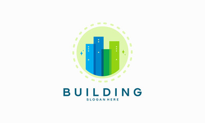 Modern Building Tower logo designs concept, Architecture logo template vector