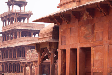 Sandstone Buildings At Fatehpur Sikri