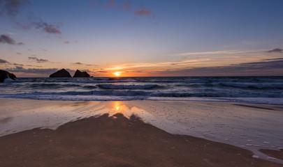 Sunset at Holywell Beach