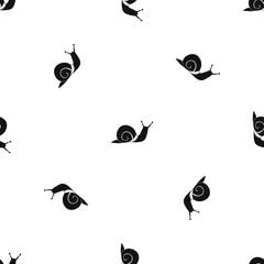 Snail pattern seamless black