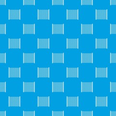 Perforated gate pattern seamless blue