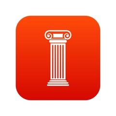 Roman column icon digital red
