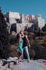 Cuddling couple. Couple in love. Love couple. Love hug. Love kiss. Couple kiss. Honeymoon, vacation, travel, tourism.