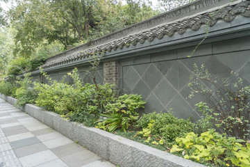 Chinese architecture wall