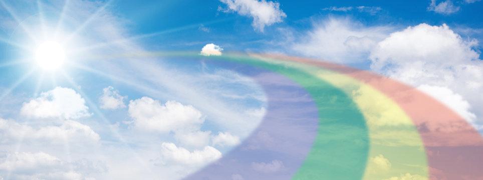 太陽に架かる虹
