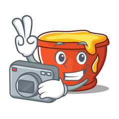 Photographer honey character cartoon style