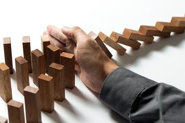 Problem solving, risk management or insurance protection concept