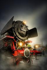 Emden Dampf Lokomotive am Bahnhof