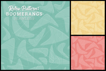 Retro Boomerang Seamless Pattern 3 retro colors